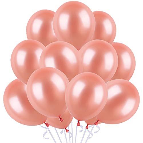 100 Pezzi Palloncini Oro Rosa per Feste, Palloncini Rosa Gold, Palloncini Festa, Palloncini per Laurea Palloncini, Matrimoni, Festa Decorazione, Compleanno, Anniversario