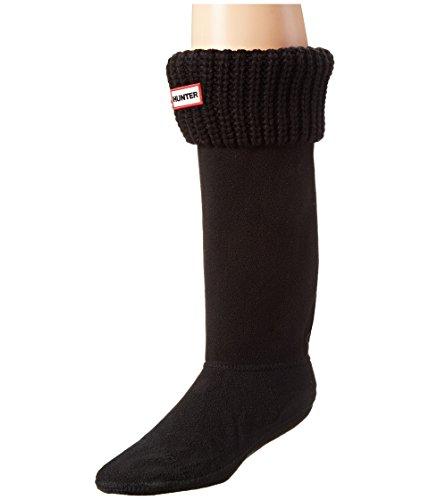 Hunter Negro Original Half Cardigan Stitch Boot Calcetines-Medium