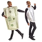 Dollars & Cents Halloween Couples Costume - Funny Adult Quarter & Million Bucks