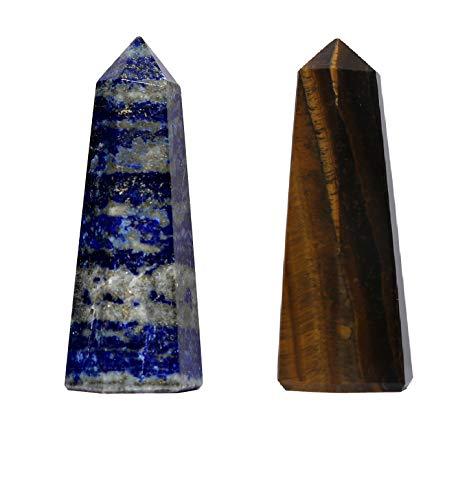 KACHVI Rosenkristalle Natürliche Trommelsteine Heilkristalle und Steine Chakra-Steine Dekoration Reiki-Kristalle für Energie 2er-Set