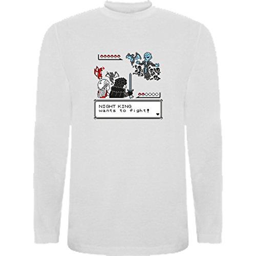 Camiseta Manga Larga de Mujer Juego de Tronos Tyrion Daenerys Dragon Cuervo 2XL