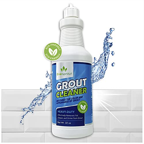 EVERSPROUT Heavy Duty Tile & Grout Cleaner (32 Ounces) | Eco-Friendly Formula | Safely & Easily Removes Dirt, Grease, & Grime | Restores Color & Appearance of Grout | Safe on Ceramic & Porcelain Tile