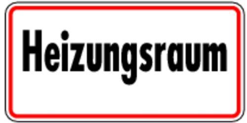 Schild Alu Heizungsraum 100x200mm