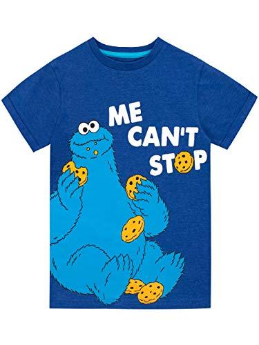 Sesame Street Jungen Krümelmonster T-Shirt Blau 128