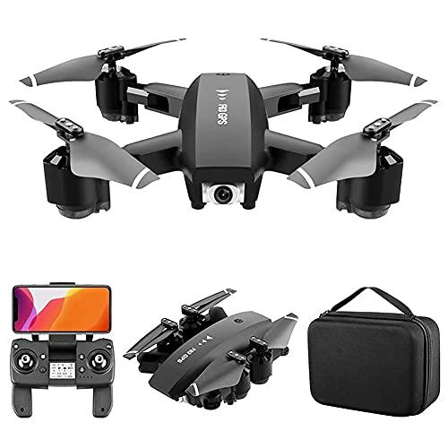 rzoizwko Drohne, Drohne mit Kamera, 4K HD Mini-Drohne mit Kamera für Erwachsene, Faltbare FPV RC-Drohne, Gestensteuerung, 3D-Flips, Lange Flugzeit 15 Minuten, Tragetasche für Erwachsene und Anfänger