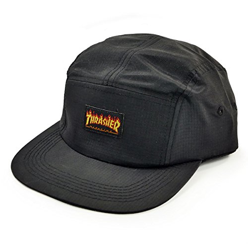 GORRA THRASHER MAGAZINE FLAME LOGO BLACK