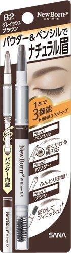Sana NEW BORN Augenbrauen-Mascara und -Stift (grau-braun)