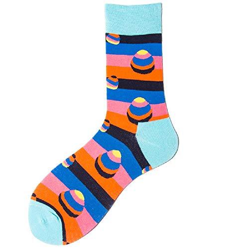 U/A Calcetines Medias Geométricas Medias Hit Color Calcetines de algodón para hombres (5 pares)