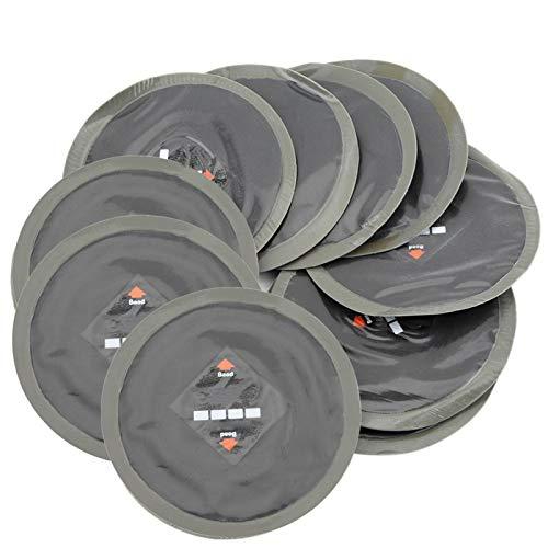 OUKENS Parche de reparación de neumáticos, 10 Piezas de 90 mm de Caucho Natural para automóviles Reparación de pinchazos de neumáticos Parche de Goma fría Parches sin cámara