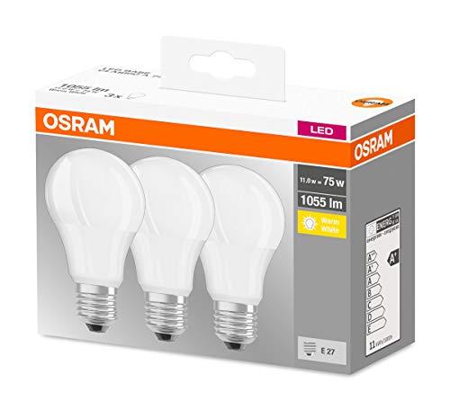 Osram Classic 4058075819436, Lampade LED Plastica Warm White (11 W, 1055 lm, E27, A+)