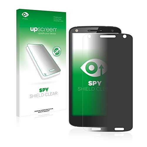 upscreen Anti-Spy Blickschutzfolie kompatibel mit Motorola Moto X Force Privacy Screen Sichtschutz Bildschirmschutz-Folie