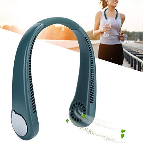 SONK Ventilador de Cuello Colgante USB, ángulo Ajustable 6 Horas de Trabajo Continuo Ventilador de Cuello portátil Verde M6 para Actividades en Interiores y Exteriores