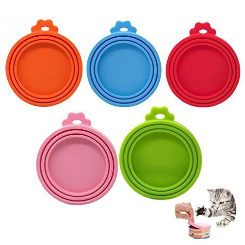 Zliger 10 Stück Silikon-Deckel Für Dosenfutter Futterdosen Deckel Dosendeckel Hundefutter Hund Katzenfutter Deckel für Dosenfutter
