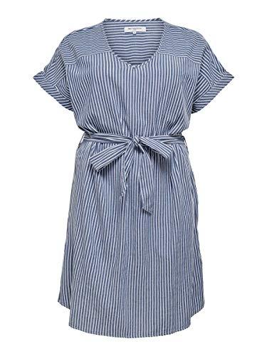 ONLY Carmakoma Carisa Life Stripe DNM SS sukienka na kolana