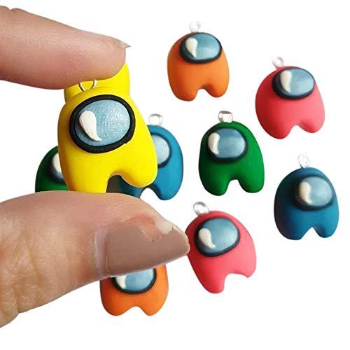 Among_us Mini Llaveros Pendientes Muñeca Juguete Entre Nosotros Juegos de Personajes Llave(20 piezas)