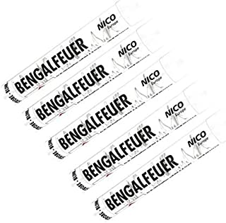 Bengalfeuer Weiß 5 Stück Bengalfeuer Nico Bengalen Bengalo Feuerwerk Weiß, 5