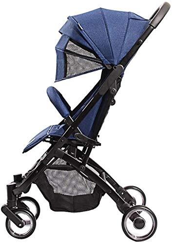 Poussette pour bébé - Système de voyage léger - Portable - Poignée de traction - Design pliable