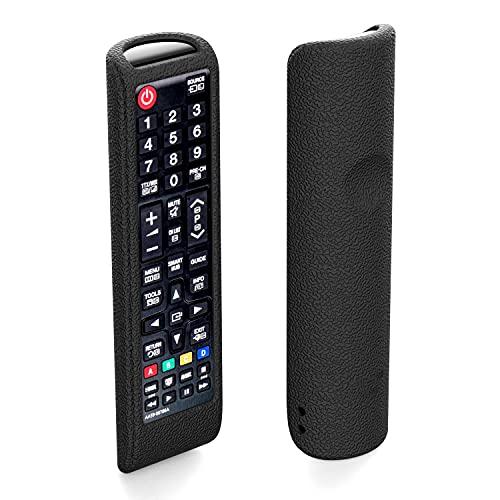 SIKAI Custodia protettiva compatibile con telecomando TV Samsung AA59-00741A BN59-01175N AA59-00816A AA59-00786A Antiscivolo Accessori in Silicone Resistente Antiurto Home Protector (Nero)