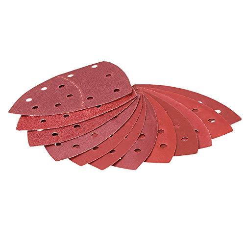 10 unids autoadhesivo papel de lija 11 agujeros triángulo gancho bucle arenado arrasivo herramientas abrasivas para pulir herramienta grit 40-2000-10pcs grit 60