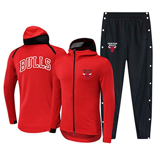 YDYL-LI Juego De Chándales Uniforme De Camiseta De Baloncesto - Chicago Bulls Sportswear Traje Baloncesto Sudadera con Capucha Sudadera Jogging Pantalones Fan Jerseys,S
