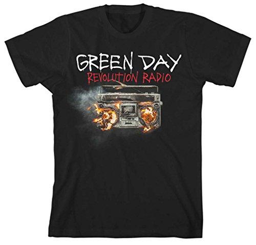 Green Day Revolution Radio Rock Music Punk Oficial Camiseta para Hombre