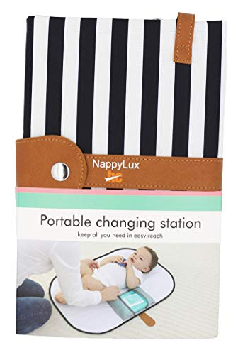 HC NappyLux | Black and White Stripe | Portable Nappy Changing Station |...