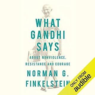 What Gandhi Says audiobook cover art