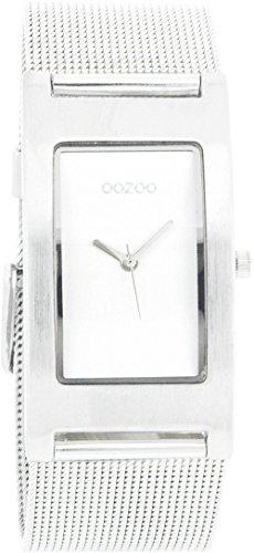 Oozoo Damenuhr mit Metallband 25 MM x 40 MM Silber/Silber C1996
