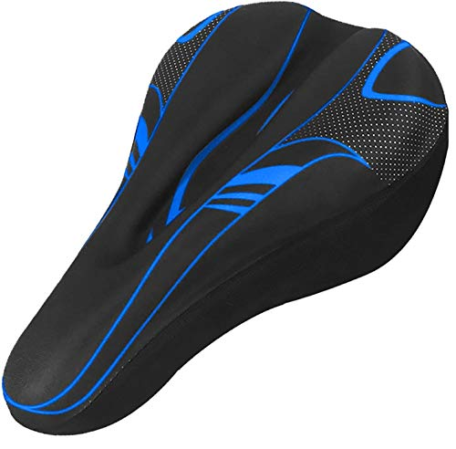 AlexVyan Soft Bicycle Silicone Gel Saddle Seat & Cycling Cushion Pad Bike Cycle Gel Cover -Black with Red