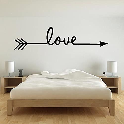 Pegatinas de pared de flecha de amor para decoración del hogarpegatinas de vinilo bonitas para paredpegatinas de pared para habitación de niñosA9 80x20cm