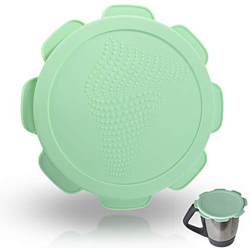 Silikondeckel wasser-, luft- und geruchsdicht für Thermomix TM5 TM6, BPA frei - das Original (Mediterranean Green)
