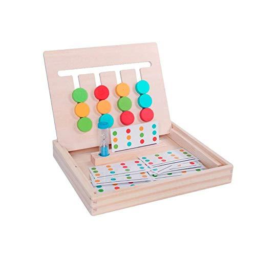 Montessori Spielzeug Holzspielzeug, Holz Puzzle Sortierbox, Kinder Lernspielzeug Pädagogisches Logik Puzzles Spiel Für Jungen Mädchen, Farbe Shape Matching Brain Teasers Logik-Spiel
