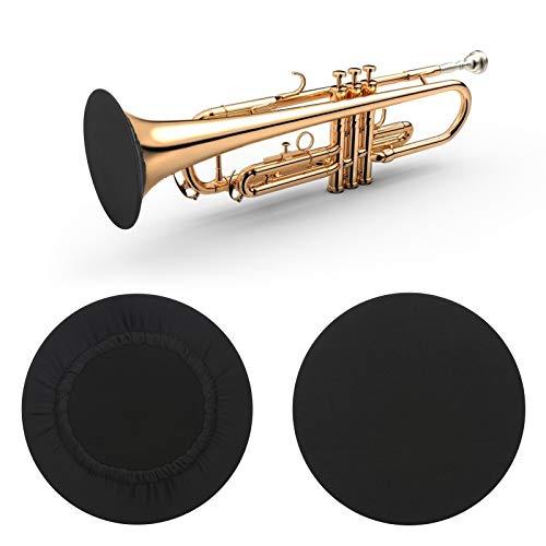PlutuX 2 piezas cubierta de campana de instrumento cubierta elástica reutilizable a prueba de polvo ideal para clarinete saxofón tenor saxofón alto trompeta reduce la difusión de aerosoles
