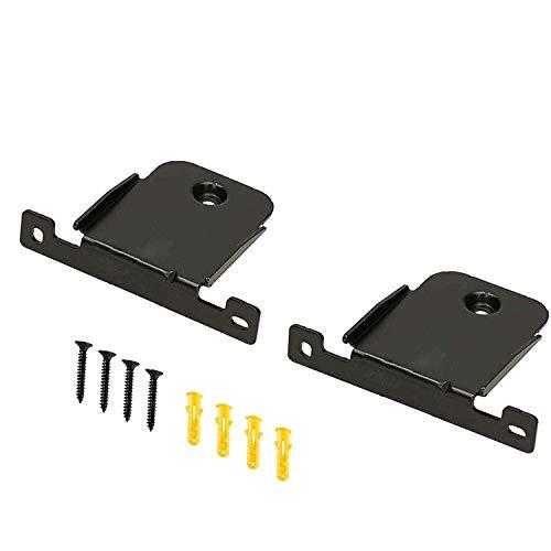 Wall Mount Bracket for LG SK4D Soundbar Speaker Stands, 2 Pieces Black Wall Bracket Holder with Screws