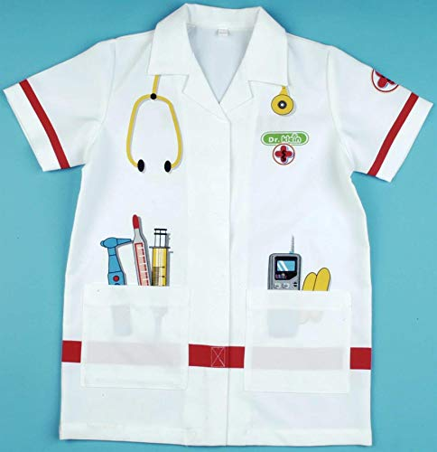 Theo Klein 4614 Doctor's White Coat I High-Quality Outfit I Dimensions: Length Approximate 55 cm I Toy for Children Aged from 3 to Approximate 6 Years