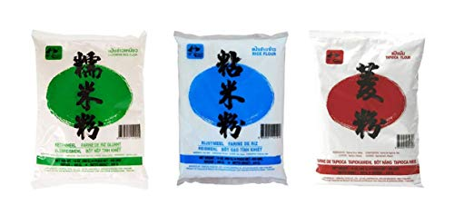 Lot de 3 farines Farmer 3x400g Farine de riz gluant + Farine de Tapioca + Farine de Riz