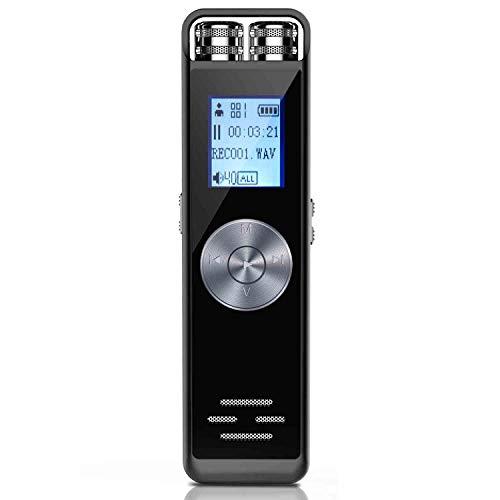 Registratore Vocale Digitale,ADOKEY 8GB HD Audio Portatile Registratore Voice Recorder Registratore Dittafono Registratore di Suoni Espandere la scheda TF 32G per Lezioni/Incontri/Interviste/Lezioni