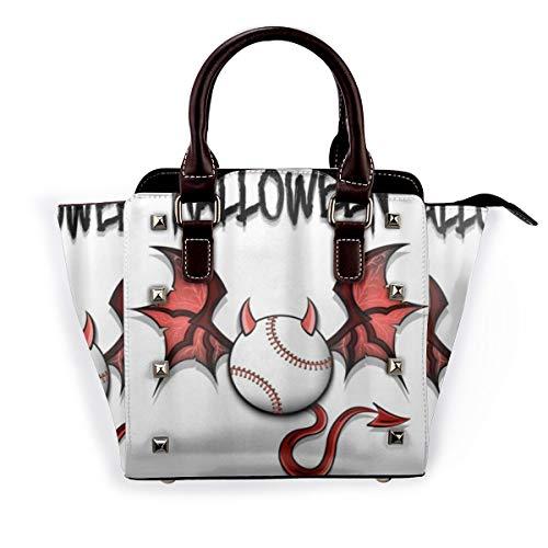 BROWCIN Einzigartige Happy Halloween Devil Baseball Hörner Abnehmbare mode trend damen handtasche umhängetasche umhängetasche