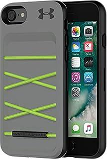 جراب خلفي صلب من اندر ارمور للحماية من الصدمات بأستك لموبايل ايفون SE 2nd Generation 4.7 inch - رمادي