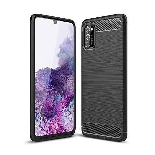 CoverKingz Handyhülle für Samsung Galaxy A41 - Silikon Handy Hülle Galaxy A41 - Soft Hülle Carbon Farben schwarz
