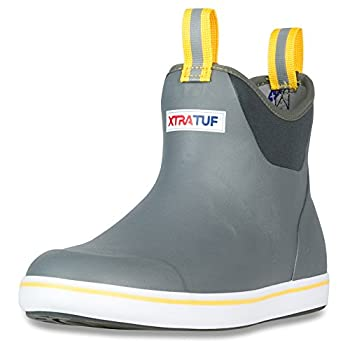 Xtratuf Men s 6 Inch Ankle Deck Boot Gray/Yellow 8