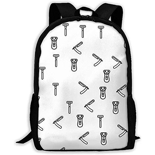 wobuzhidaoshamingzi Schulrucksack Rasiergeräte Sammlung Bookbag Casual Travel Bag für Erwachsene