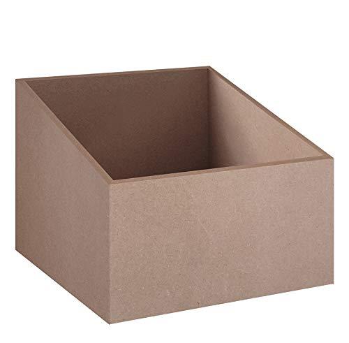 stocubo - Schallplatten-Box für modulares Regalsystem für LPs, CDs und Bücher, naturfarbenes MDF