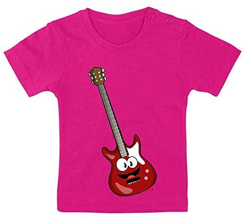 Hariz - Camiseta para bebé, diseño de guitarra eléctrica, con texto en...