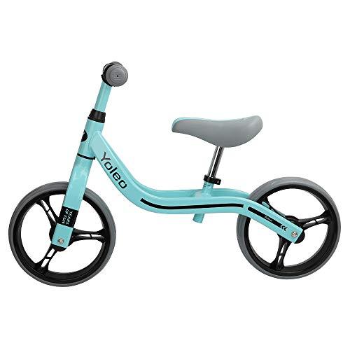 Yoleo Kinder Laufrad Lauflernrad Balance Fahrrad Kinderrad für Jungen und Mädchen ab 2-3 Jahre 360° drehbar Lenker Höhenverstellbar nur 2,88 kg (Türkis Neu)