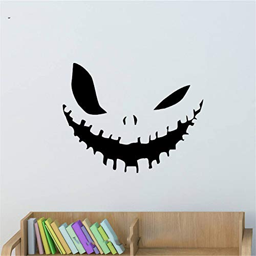Motivationele Muursticker Quotes Evil Smile Halloween Sticker Kinderkamer Thuis Slaapkamer Woonkamer Raam Decoratie 15x12 inch