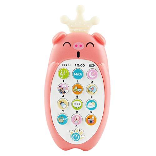 Non-brand Juguetes Musicales, los niños aplacan los teléfonos móviles con Luces de música, Juguete de Aprendizaje electrónico para niños, Juguete de música para - Rosa