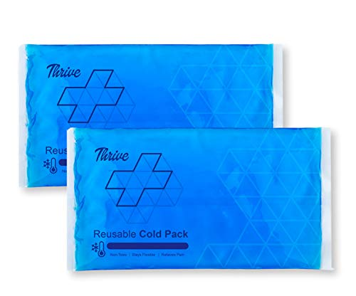 Reusable Crystal Blue Gel Ice Cold Pack Compress - (2 Pack) - Reusable Vinyl Provides Instant Pain Relief, Rehabilitation and Therapy from Injuries