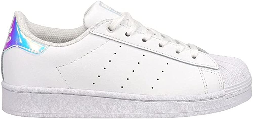adidas Kids Boys Superstar Stan Smith Lace Up Sneakers Shoes Casual - White