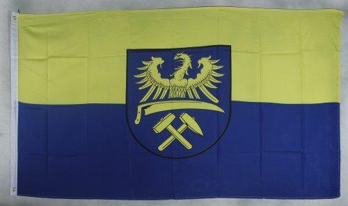 Flagge Fahne ca. 90x150 cm : Oberschlesien Ober Schlesien Schlesienflagge